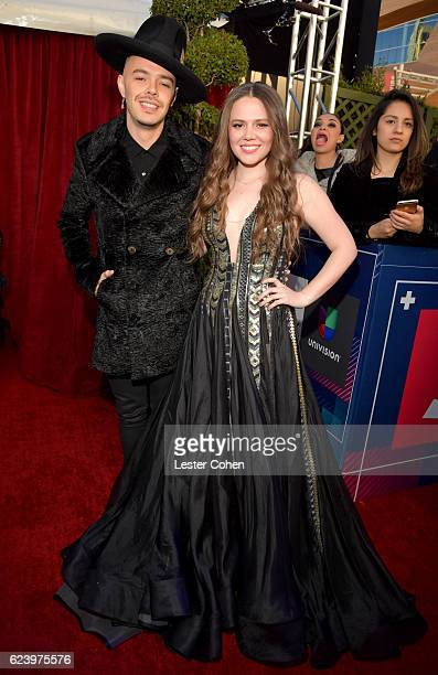 Recording artists Jesse Huerta and Joy Huerta of Jesse y Joy attend The 17th Annual Latin Grammy Awards at TMobile Arena on November 17 2016 in Las...