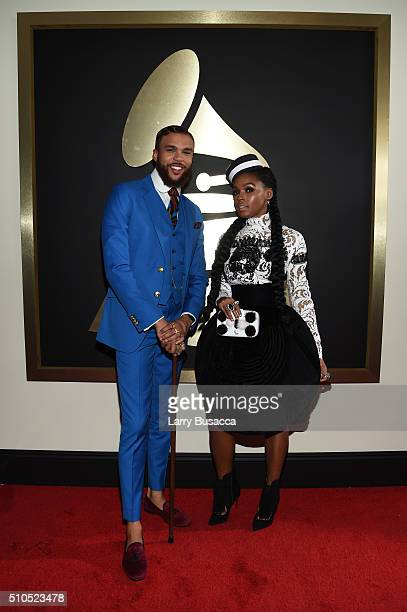 Recording artists Jidenna and Janelle Monae attend The 58th GRAMMY Awards at Staples Center on February 15, 2016 in Los Angeles, California.