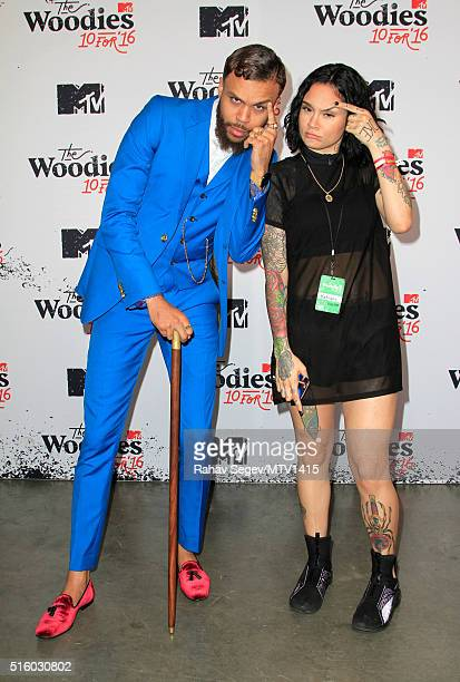 Recording artists Jidenna and Kehlani attend the 2016 MTV Woodies/10 For 16 on March 16 2016 in Austin Texas