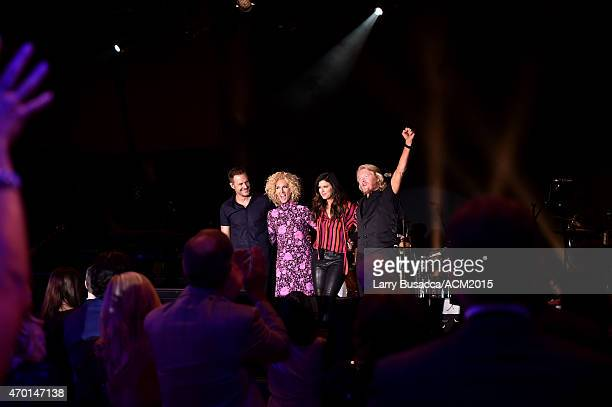 Recording artists Jimi Westbrook, Kimberly Schlapman, Karen Fairchild, and Phillip Sweet of music group Little Big Town perform onstage during the...