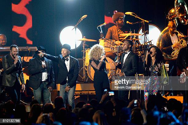 Recording artists Jimi Westbrook of Little Big Town Black Thought Pharrell Williams Tori Kelly Leon Bridges Questlove Corinne Bailey Rae Gary Clark...