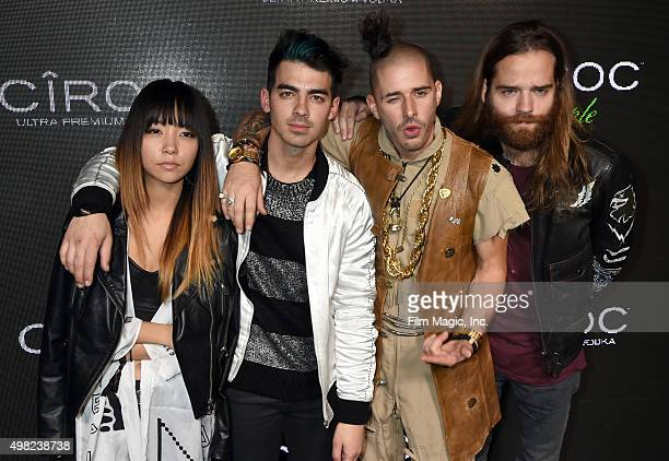 Recording artists JinJoo Lee Joe Jonas Cole Whittle and Jack Lawless of DNCE attend Sean 'Diddy' Combs Exclusive Birthday Celebration Presented By...
