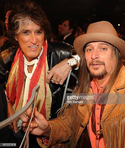 COVERAGE*** Recording Artists Joe Perry of Aerosmith and Kid Rock at the CMT Artists of the Year at The Factory on November 30 2010 in Franklin...