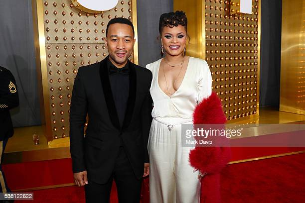 Recording artists John Legend and Andra Day attend Spike TV's 10th Annual Guys Choice Awards at Sony Pictures Studios on June 4 2016 in Culver City...