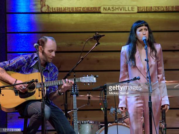 Recording artists John McCauley and Vanessa Carlton perform during the All Hands On Deck Tornado Relief Show at City Winery Nashville on March 10...