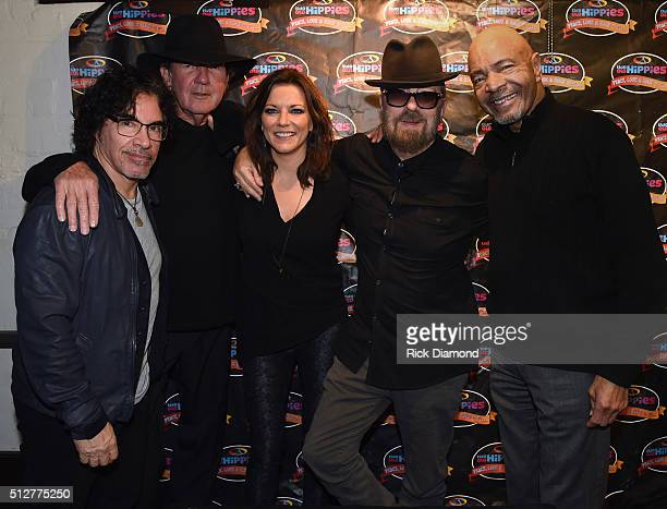Recording Artists John Oates Tony Joe White Martina McBride Dave Stewart and Chester Thompson attend Martina McBride In Conversation With Dave...
