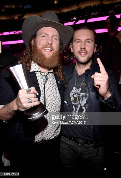 Recording artists John Osborne and TJ Osborne of music group Brothers Osborne winners of the Vocal Duo of the Year award and New Vocal Duo or Group...