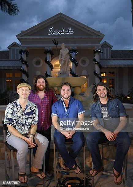 Recording artists Jon Jones James Young Mike Eli and Chris Thompson of Eli Young Band sit down for one on one interviews during CMT Story Behind The...
