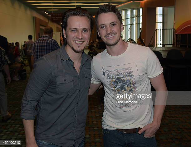 Recording Artists Jonathan Jackson and Greg Bates attend Music Industry Day At Summer NAMM With Performances By Singer/Songwriter Jonathan Jackson of...