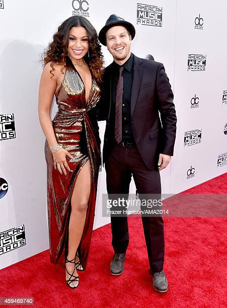 Recording artists Jordin Sparks and Gavin DeGraw attend the 2014 American Music Awards at Nokia Theatre LA Live on November 23 2014 in Los Angeles...