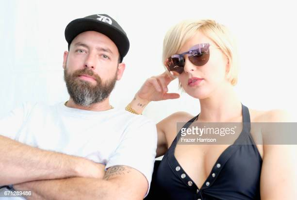 Recording artists Josh Carter and Sarah Barthel of Phantogram during day 1 of the 2017 Coachella Valley Music & Arts Festival at the Empire Polo Club...