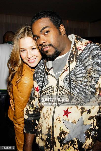 Recording artists Joy Enriquez and Rodney Jerkins attend BMI's PreGrammy Party at the Mondrian Hotel February 09 2007 in Los Angeles California