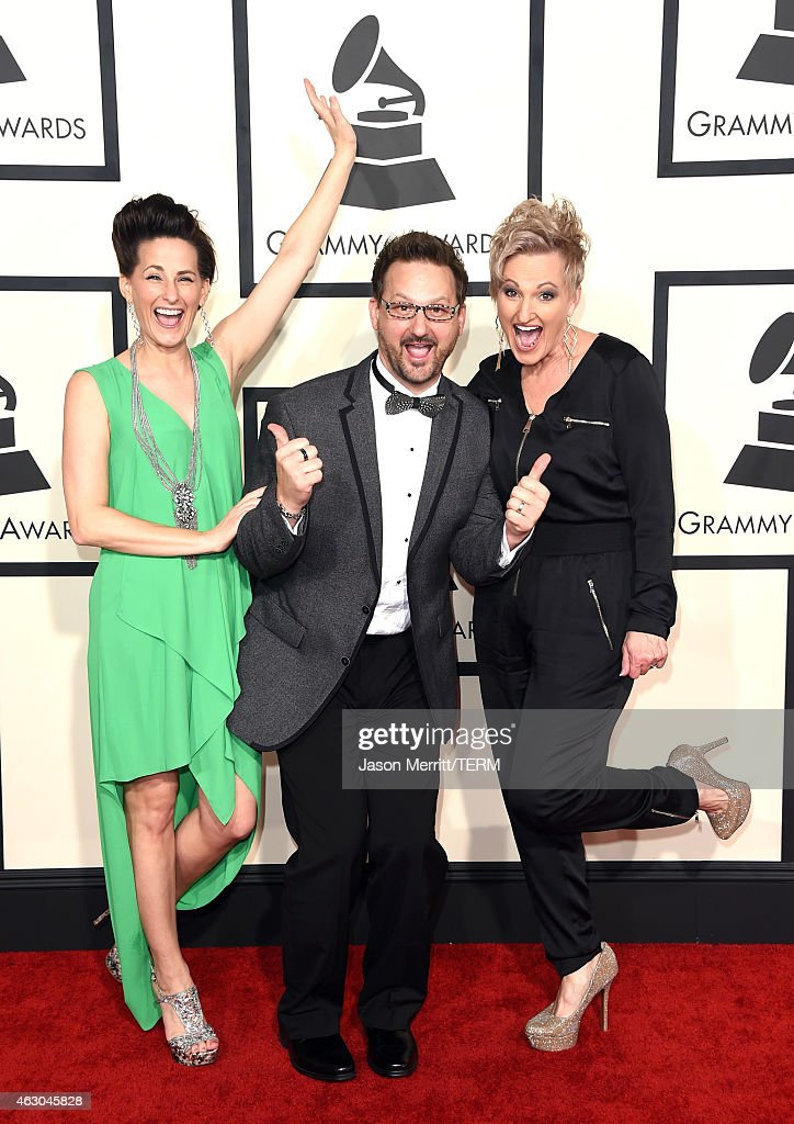 Recording artists Judy Martin Hess, Jonathan Martin and Joyce Martin Sanders of music group The Martins attend The 57th Annual GRAMMY Awards at the STAPLES Center on February 8, 2015 in Los Angeles, California.