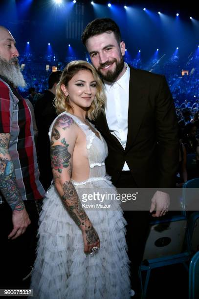 Recording artists Julia Michaels and Sam Hunt attend the 2018 Billboard Music Awards at MGM Grand Garden Arena on May 20 2018 in Las Vegas Nevada