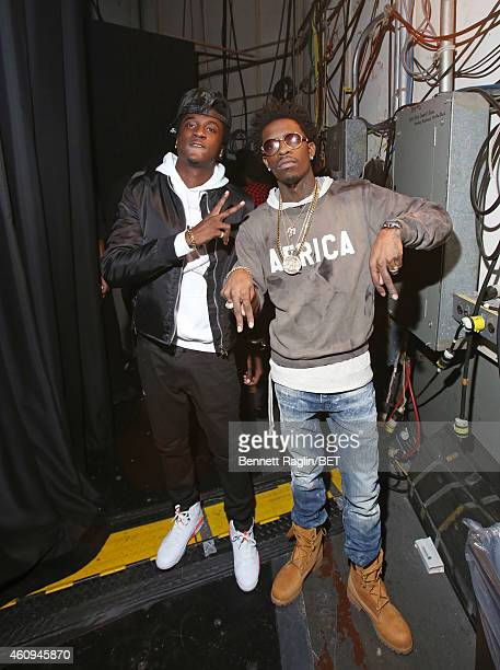 Recording artists K Camp and Rich Homie Quan attend 106 Party at BET studio on December 12 2014 in New York City