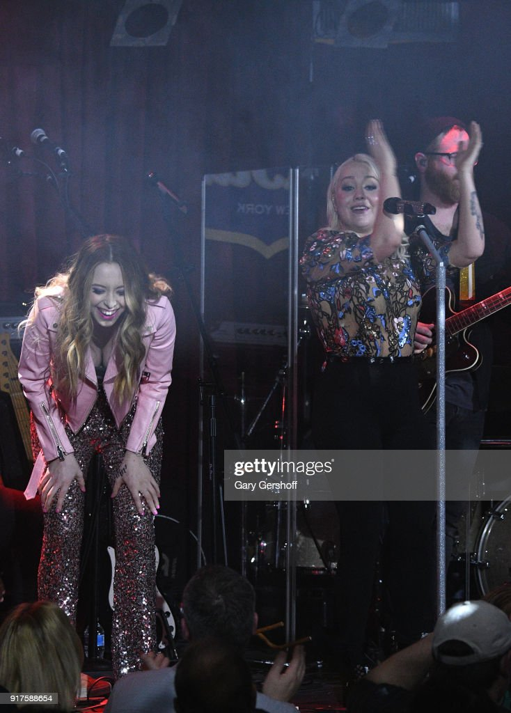 Recording artists Kalie Shorr (L) and RaeLynn perform during CMT Next Women of Country at B.B. King Blues Club & Grill on February 12, 2018 in New York City.