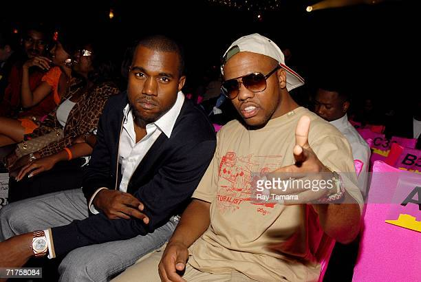 Recording artists Kanye West and Consequence attends the 6th Annual BMI Urban Awards at the Roseland Ballroom August 30 2006 in New York City