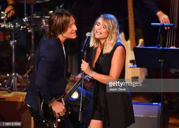 Recording Artists Keith Urban and Miranda Lambert perform on stage during the 13th Annual ACM Honors Awards at Ryman Auditorium on August 21 2019 in...