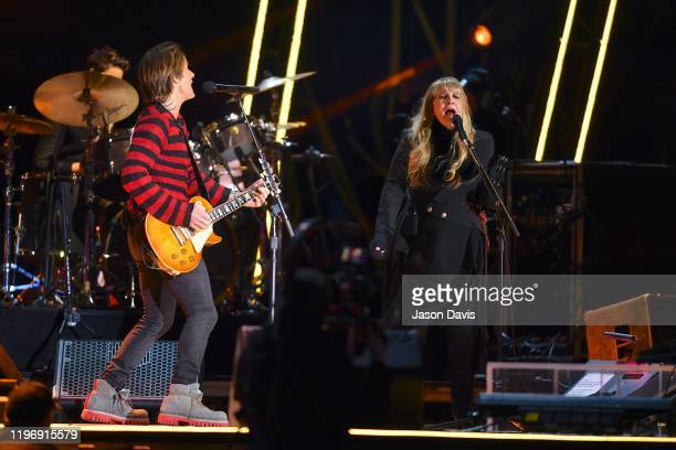 Recording Artists Keith Urban and Stevie Nicks perform on stage during Jack Daniels Music City Midnight: New Years in Nashville on December 31, 2019...