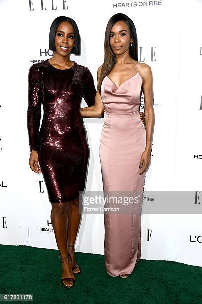 Recording artists Kelly Rowland and Michelle Williams attend the 23rd Annual ELLE Women In Hollywood Awards at Four Seasons Hotel Los Angeles at...
