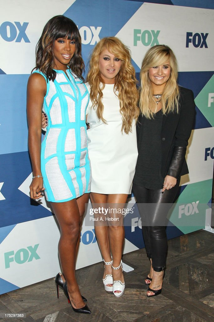 Recording artists (L-R) Kelly Rowland, Paulina Rubio, and Demi Lovato attend the Fox All-Star Party on August 1, 2013 in West Hollywood, California.