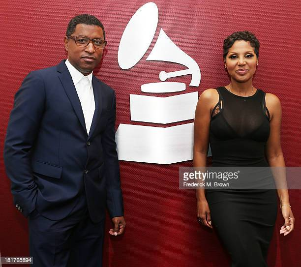 Recording artists Kenny 'Babyface' Edmonds and Toni Braxton attend A Converstion with Toni Braxton and Kenny 'Babyface' Edmonds at The Recording...
