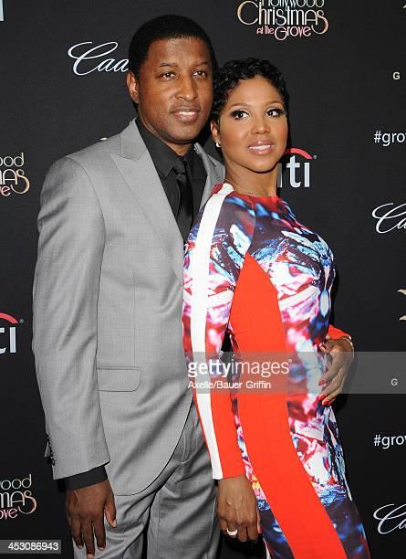 Recording Artists Kenny 'Babyface' Edmonds and Toni Braxton attend The Grove's 11th Annual Christmas Tree Lighting Spectacular at The Grove on...