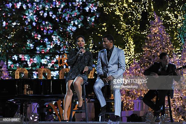Recording artists Kenny Babyface Edmonds and Toni Braxton perform on stage during The Grove's 11th annual Christmas Tree Lighting Spectacular at The...