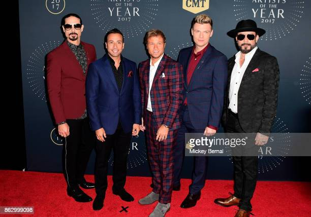 Recording artists Kevin Richardson Howie Dorough Brian Littrell Nick Carter and AJ McLean attend the 2017 CMT Artists Of The Year awards at...