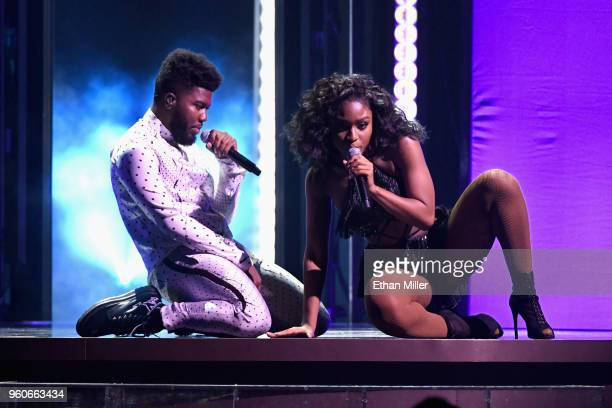 Recording artists Khalid and Normani perform onstage during the 2018 Billboard Music Awards at MGM Grand Garden Arena on May 20 2018 in Las Vegas...
