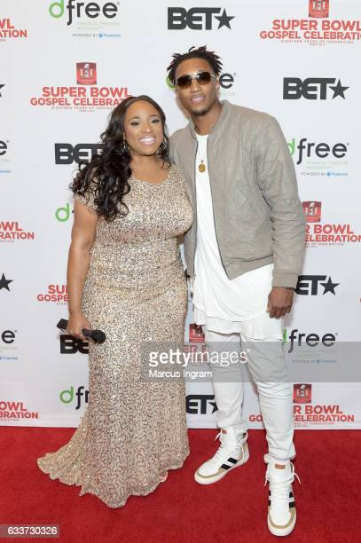 Recording artists Kierra Sheard and Lecrae attend the BET Presents Super Bowl Gospel Celebration at Lakewood Church on February 3 2017 in Houston...