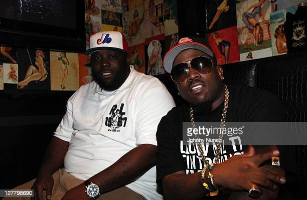 Recording artists Killer Mike and Big Boi attend the party celebrating Big Boi as the face of Crown Royal Black at Door 44 on June 6 2011 in Atlanta...