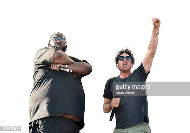 Recording artists Killer Mike and Zack de la Rocha of Run the Jewels perform onstage during day 2 of the 2016 Coachella Valley Music Arts Festival...