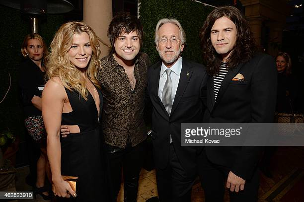 Recording artists Kimberly Perry Neil Perry National Academy of Recording Arts and Sciences President Neil Portnow and recording artist Reid Perry...