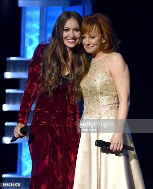 Recording artists Lauren Daigle and Reba McEntire perform during the 52nd Academy of Country Music Awards at TMobile Arena on April 2 2017 in Las...