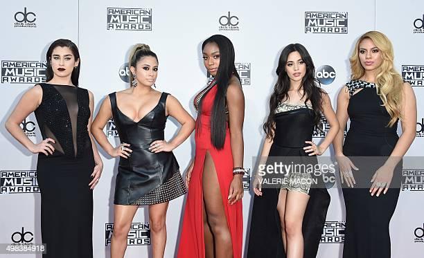 Recording artists Lauren Jauregui, Ally Brooke, Normani Hamilton, Camila Cabello and Dinah-Jane Hansen of Fifth Harmony attend the 2015 American...