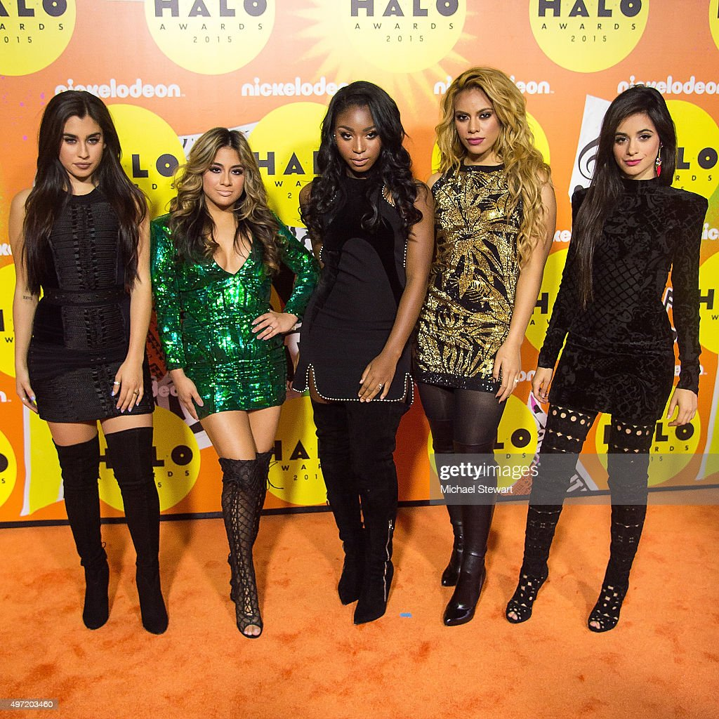 Recording artists Lauren Jauregui, Ally Brooke, Normani Hamilton, Dinah Jane Hansen and Camila Cabello of Fifth Harmony attend the 2015 Halo Awards at Pier 36 on November 14, 2015 in New York City.