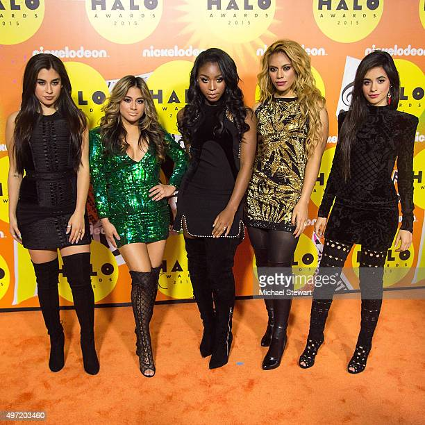 Recording artists Lauren Jauregui Ally Brooke Normani Hamilton Dinah Jane Hansen and Camila Cabello of Fifth Harmony attend the 2015 Halo Awards at...