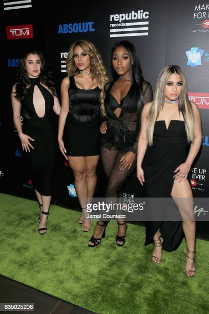 Recording artists Lauren Jauregui Dinah Jane Normani Kordei and Ally Brooke of Fifth Harmony at a celebration of music with Republic Records in...