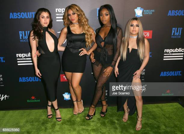 Recording artists Lauren Jauregui Dinah Jane Normani Kordei and Ally Brooke of Fifth Harmony at a celebration of music with Republic Records...