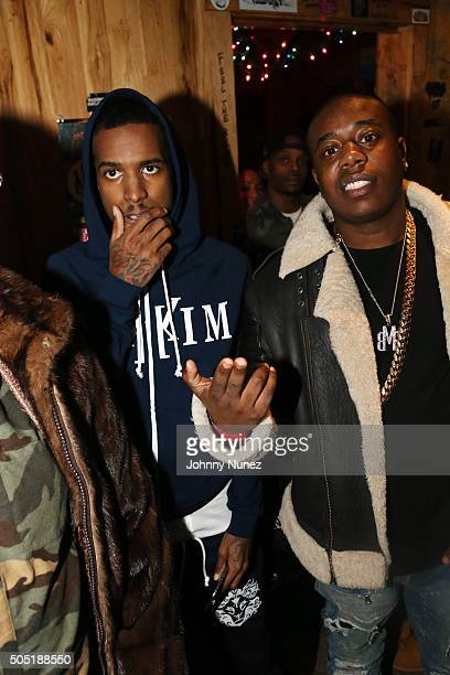 Recording artists Lil Reese and Trav attend Webster Hall on January 12 in New York City