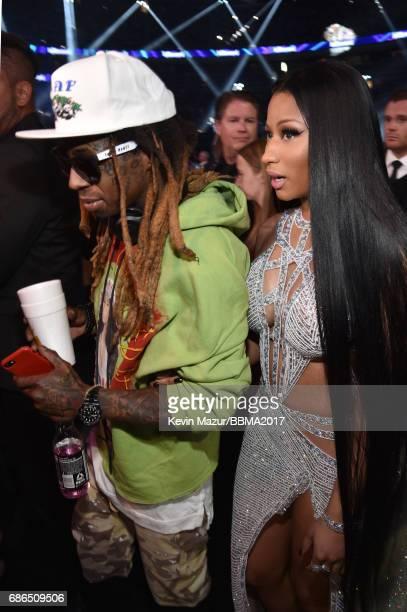Recording artists Lil Wayne and Nicki Minaj attend the 2017 Billboard Music Awards at TMobile Arena on May 21 2017 in Las Vegas Nevada