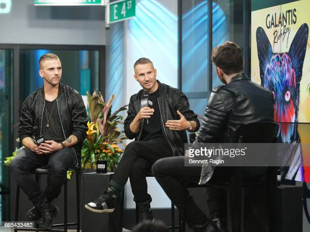 Recording artists Linus Eklow and Christian Karlsson of Galantis attend the Build Series at Build Studio on April 6 2017 in New York City