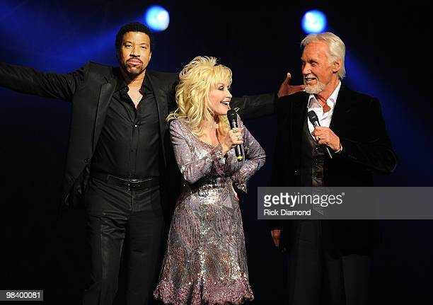 Recording Artists Lionel Richie Dolly Parton and Honoree Kenny Rogers Perform at Kenny Rogers The First 50 Years show at the MGM Grand at Foxwoods on...