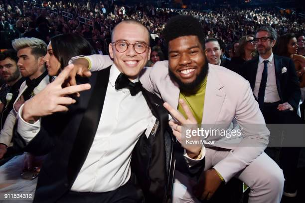 Recording artists Logic and Khalid attend the 60th Annual GRAMMY Awards at Madison Square Garden on January 28 2018 in New York City