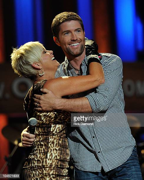 Recording Artists Lorrie Morgan and Josh Turner perform during Country Comes Home An Opry Celebration at the Grand Ole Opry House on September 28...