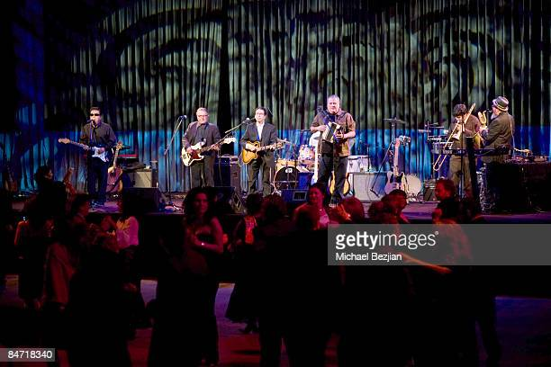 Recording artists Los Lobos perform at the CRLA Tequio Fundraiser Gala at the Beverly Hilton Hotel on February 9 2009 in Beverly Hills California