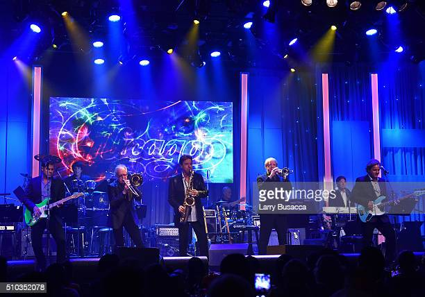 Recording artists Lou Pardini Keith Howland Walfredo Reyes Jr James Pankow Walter Parazaider Lee Loughnane Jason Scheff and Robert Lamm of the music...