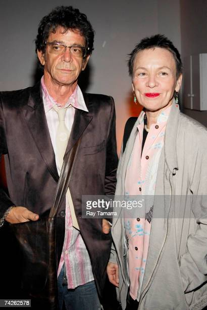 Recording artists Lou Reed and Laurie Anderson attend the Kitchen Spring Gala Benefit at the Puck Building May 23 2007 in New York City