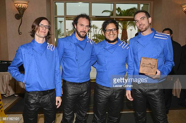Recording artists Luis Daniel Gonzalez Ricardo Martinez Rafael Urbina and Alain Gomez of the band Famasloop attend The 14th Annual Latin GRAMMY...
